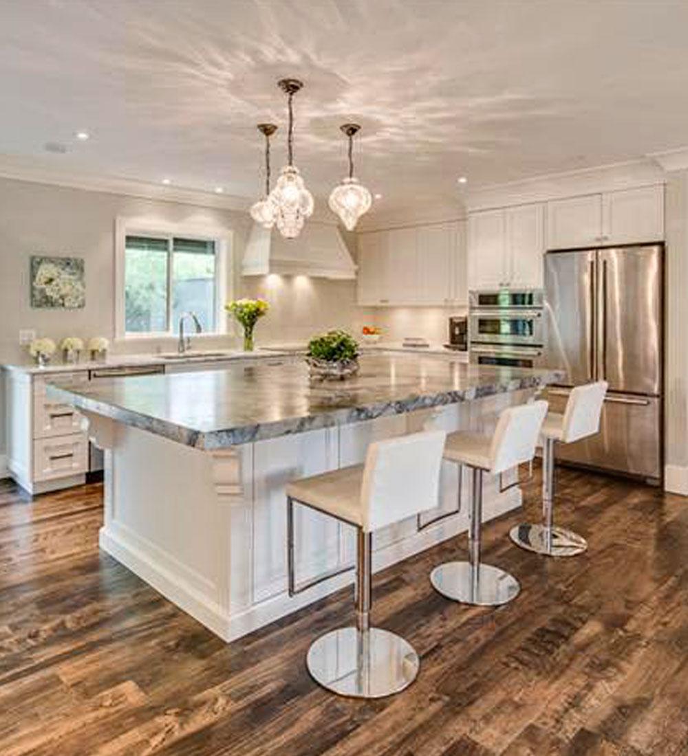 las luces puntuales suelen colocarse sobre las barras de las cocinas y o en las islas adems de sobre las mesas de comedor