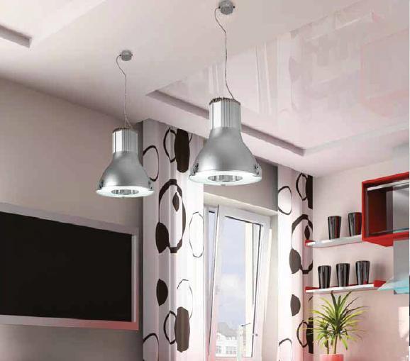 lampara de metal en color aluminio rayado con adorno de cristales apta para bombillas led se encuentra en nuestra exposicin