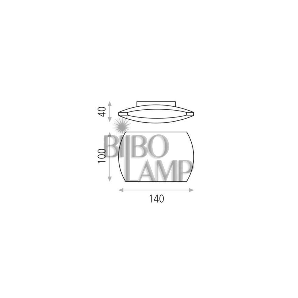 Aplique de Led Blanco Texturado de Bilbolamp