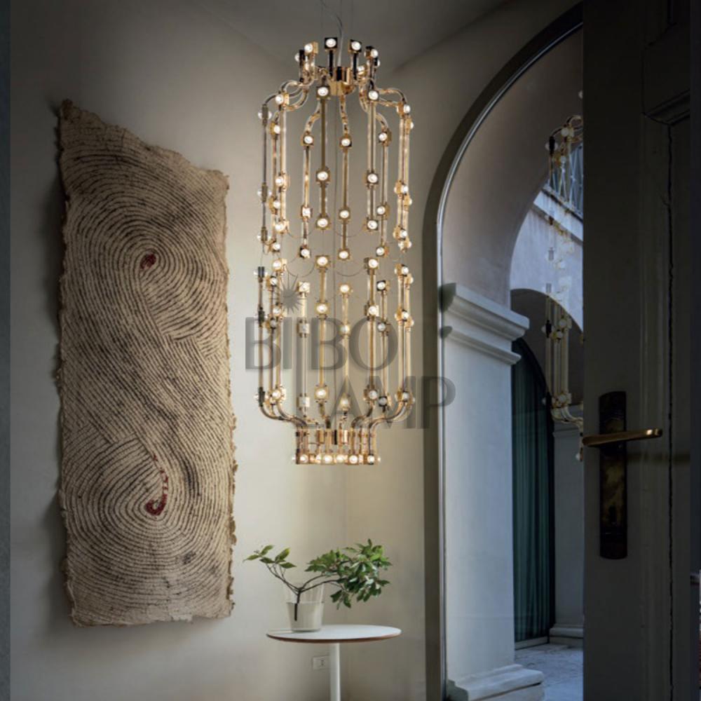 Lámpara de Diseño en Cristal Rojo de Led de Bilbolamp