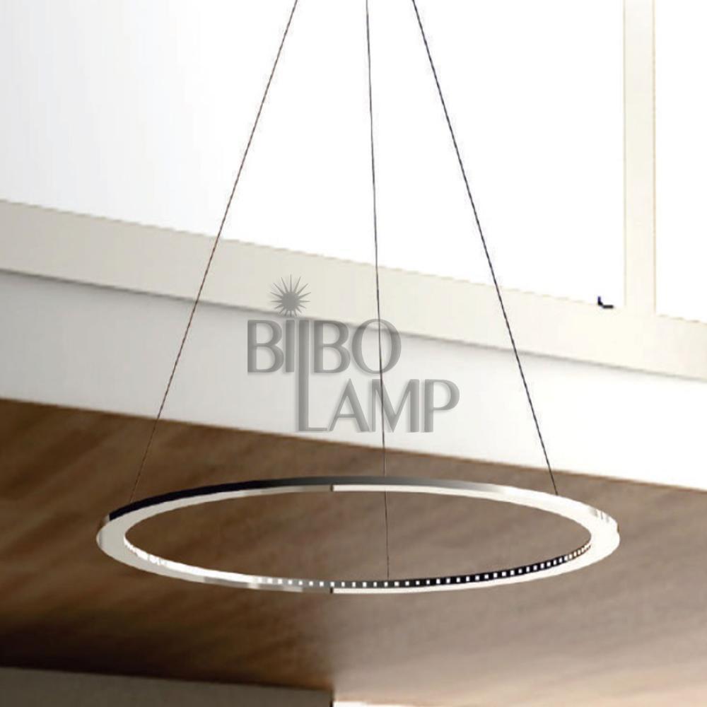 Lámpara Colgante Aro de Led en Cromo de Bilbolamp