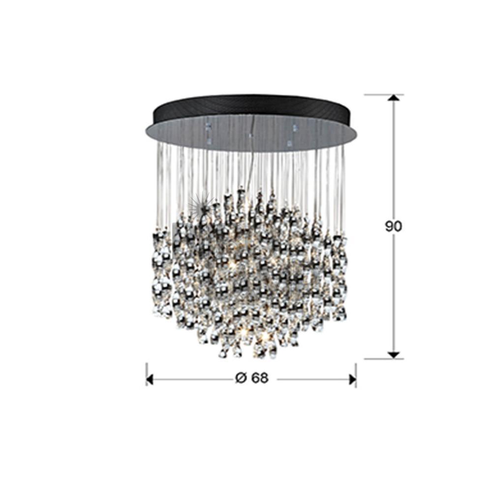 Lámpara Colgante Esapiral de 8 Luces con Mando a Distancia de Bilbolamp