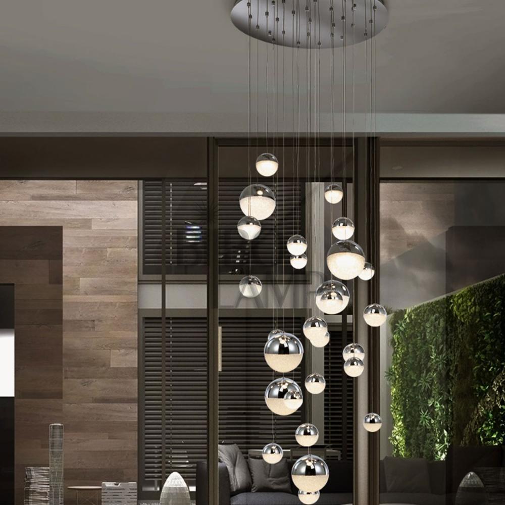 Lámpara Colgante Sphere  en Led de 27 Luces Esféricas Colores con Mano a Distancia de Bilbolamp
