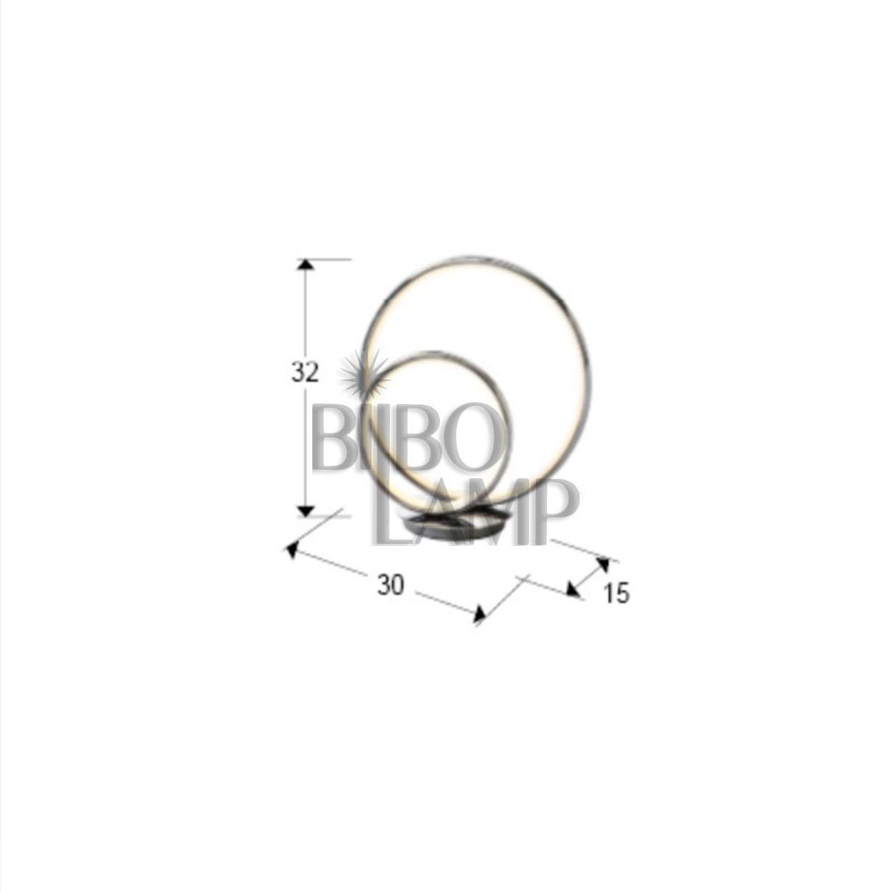 Sobremesa  Doble Aro en Tecnología Led con Dimmer Tactil de Bilbolamp