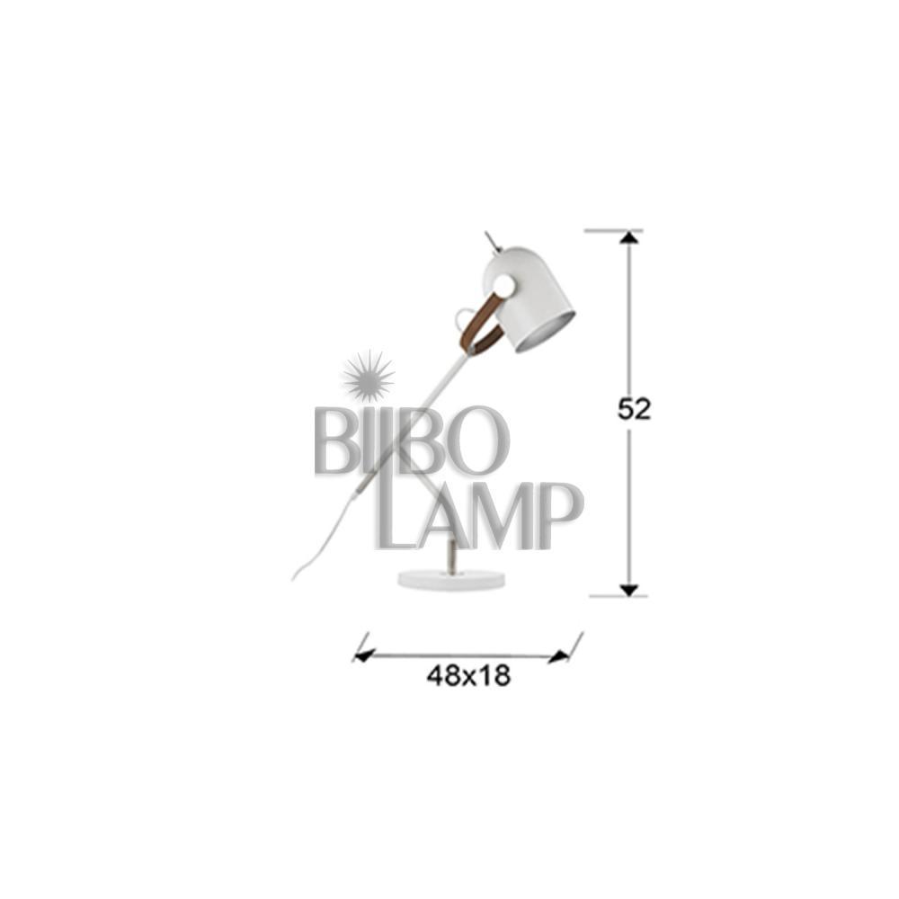 Sobremesa Adame con Foco Giratorio en Negro de Bilbolamp