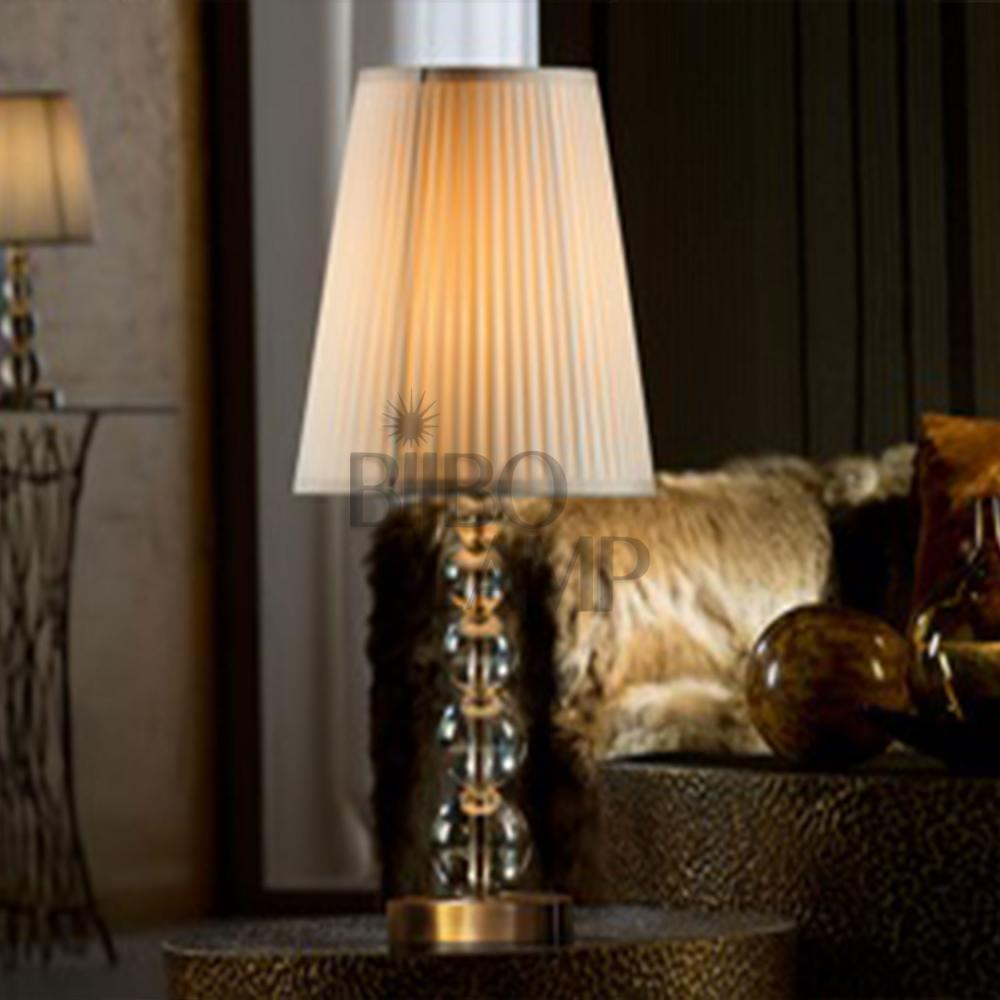 Lámpara Sobremesa Mercury en Cristal Color Champán Grande de Bilbolamp