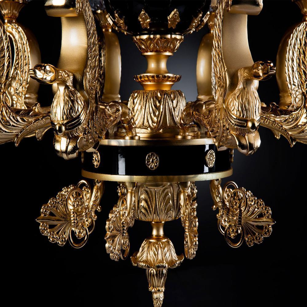 Lámpara Colgante de 6/Luces en Bronce en acabado Antique de Bilbolamp