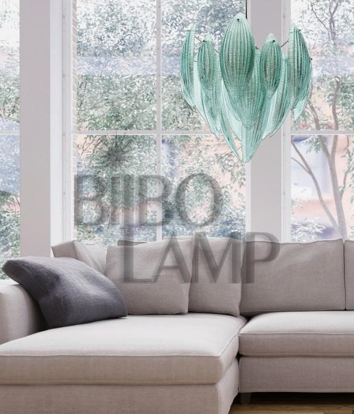 Lámpara Colgante en  Cristal de Murano de Diseño con Gran Tamaño de Bilbolamp