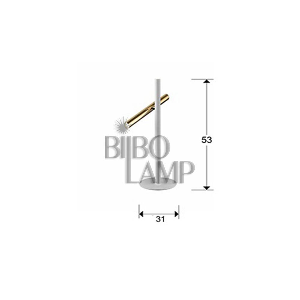 Lámpara Sobremesa Varas en Led de 2 luces combinada en Cromo y Blanco mate de Bilbolamp