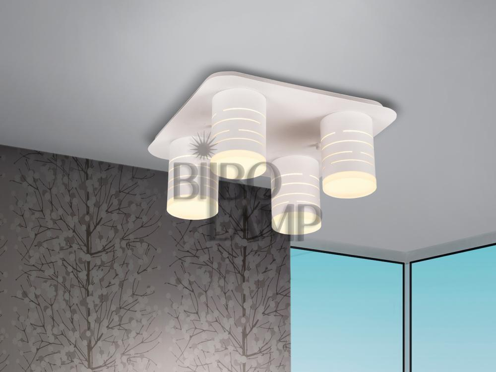 Plafón Vika Blanco de 4 luces en Led
