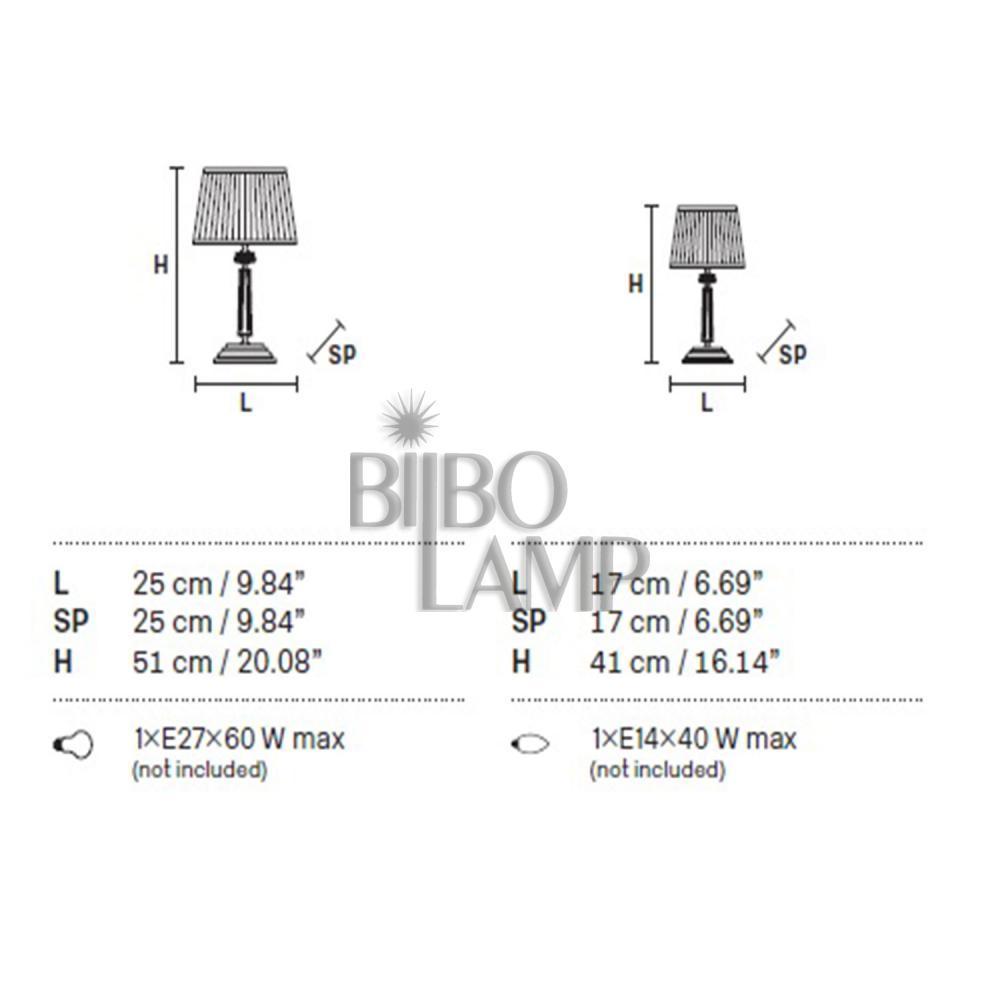 Lámpara Sobremesa de Diseño  con pantalla cuadrada en dos medidas  de Bilbolamp
