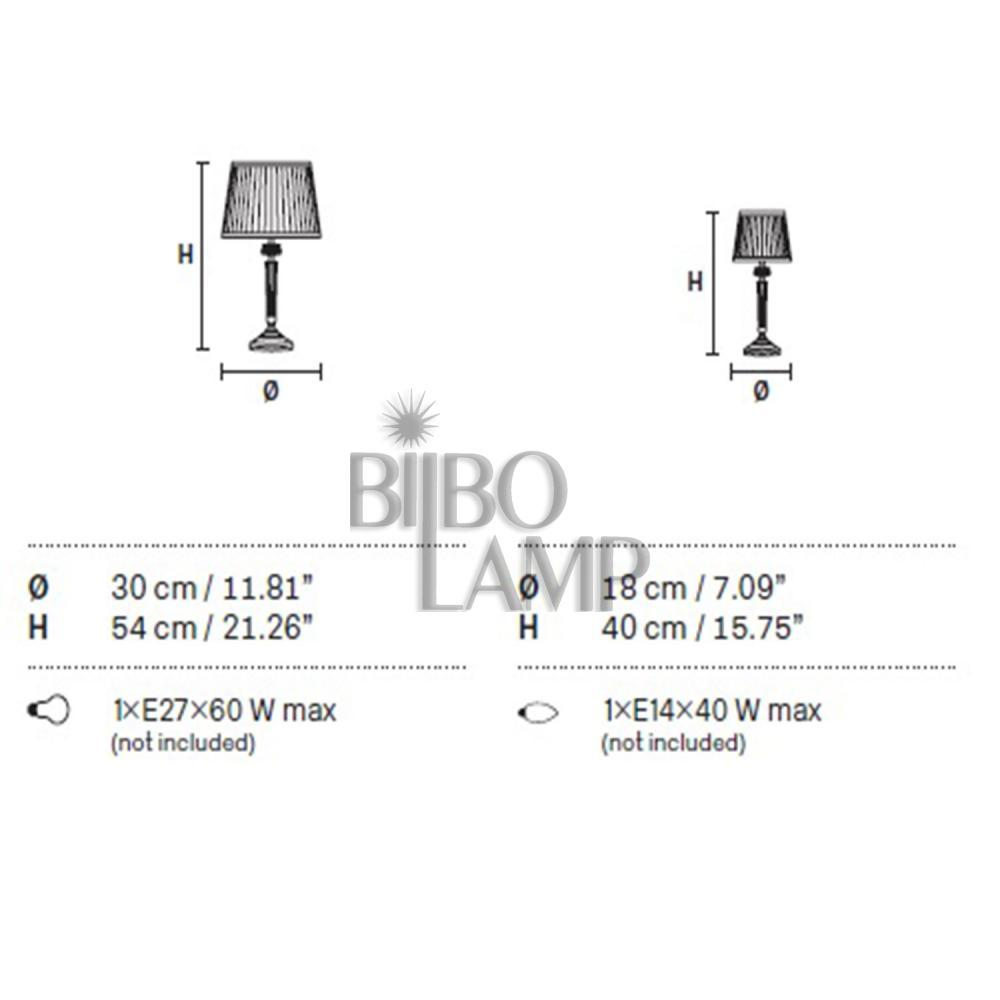 Sobremesa de Diseño con pantalla en dos tamaños de Bilbolamp