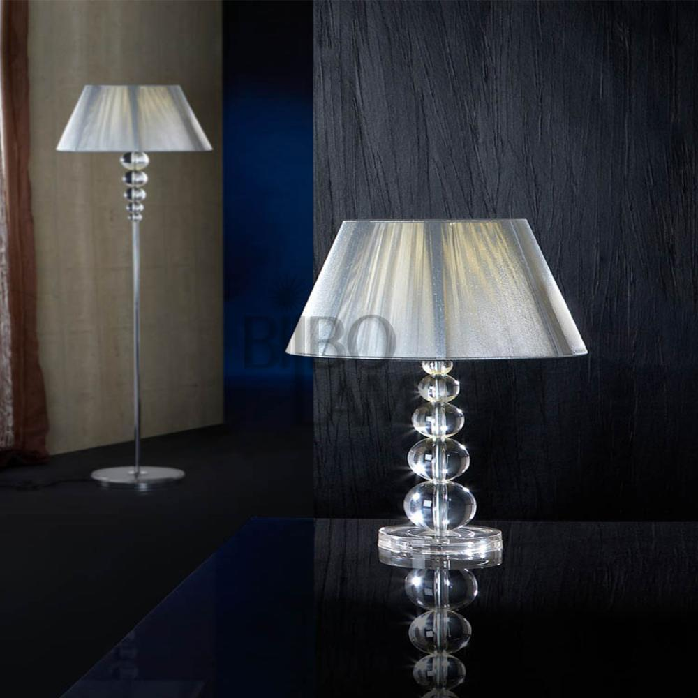 Lámpara Sobremesa Mercury en Cristal Transparente Grande. de Bilbolamp