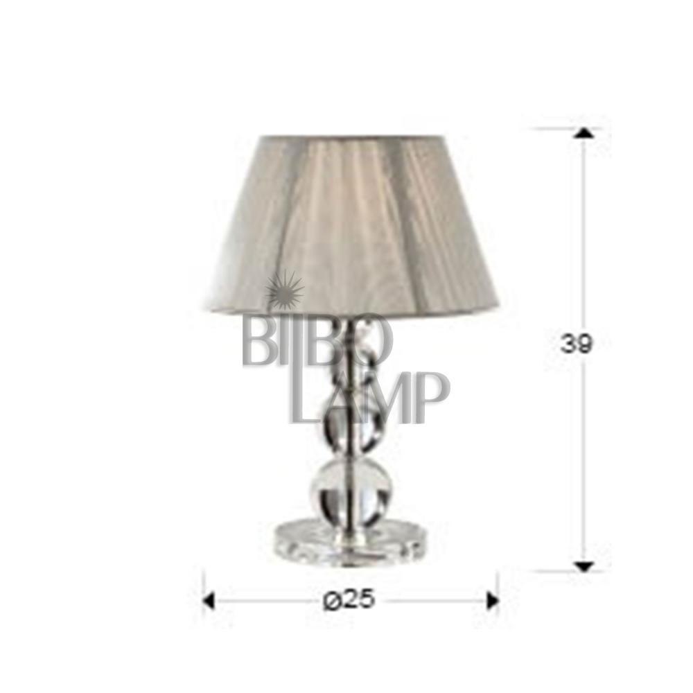 Lampara de Sobremesa Mercury en Cristal Transparente Pequeña de Bilbolamp