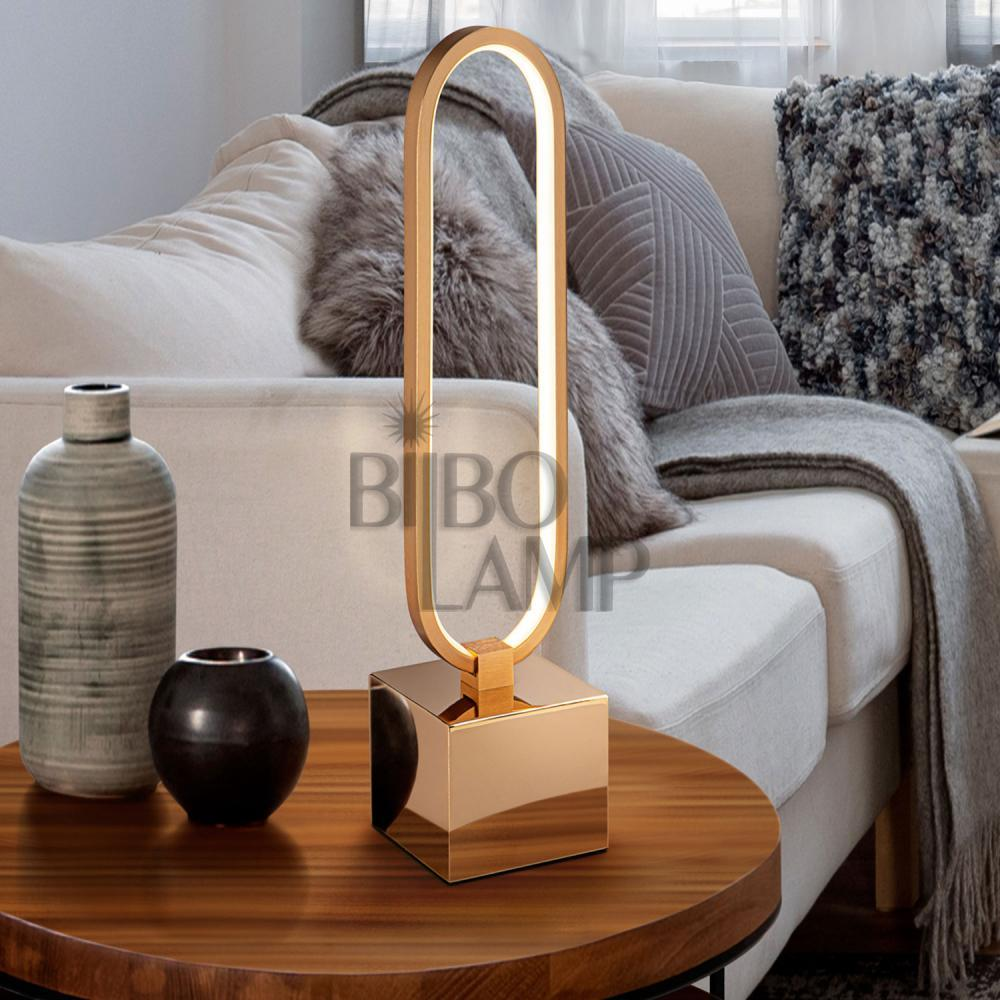 Lámpara de Sobremesa Colette de Led en  Dorado de Bilbolamp