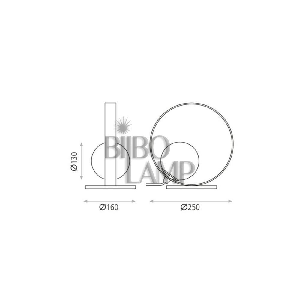Lámpara Sobremesa de Led en Oro Técnico de Bilbolamp