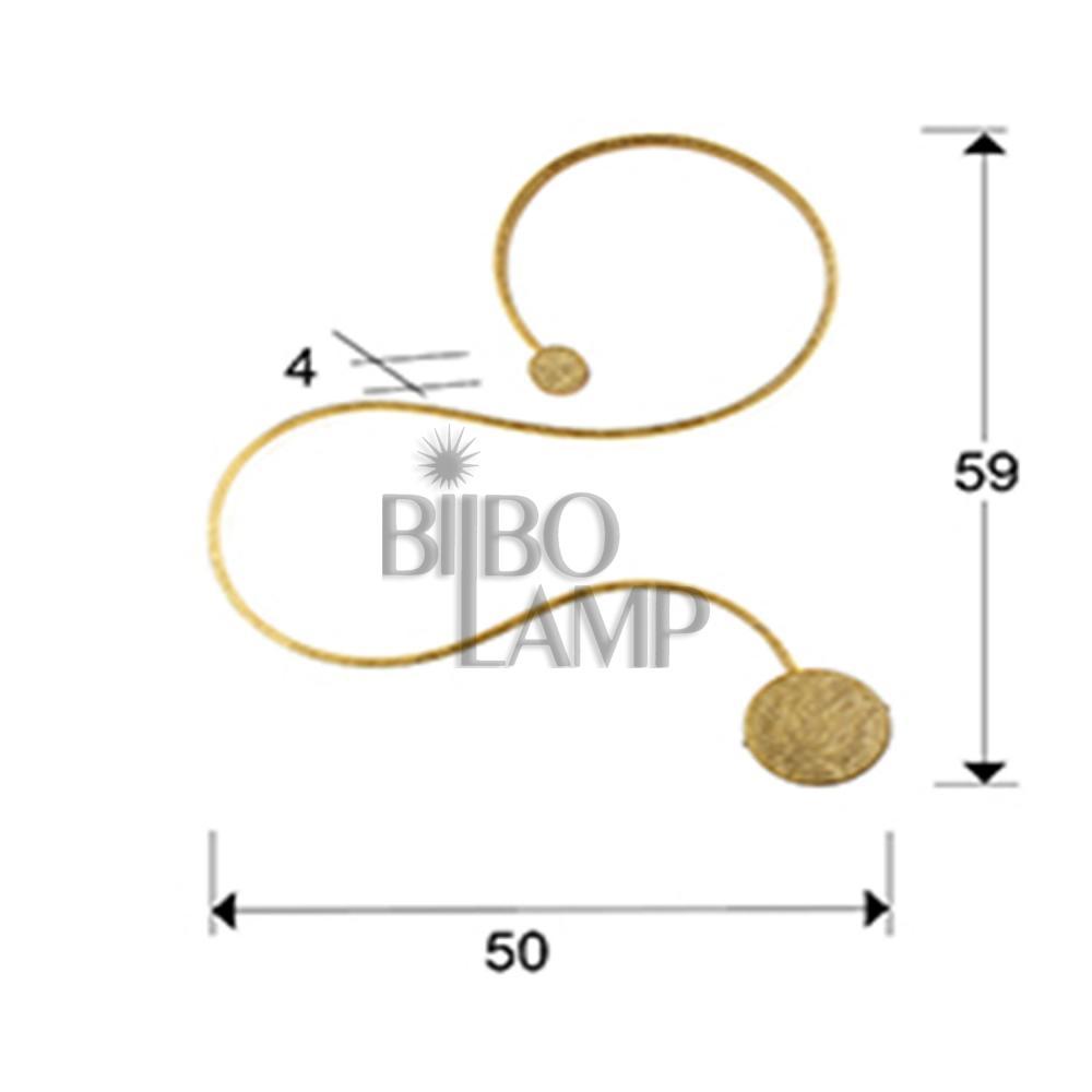Aplique Grafos  Pequeño de Bilbolamp