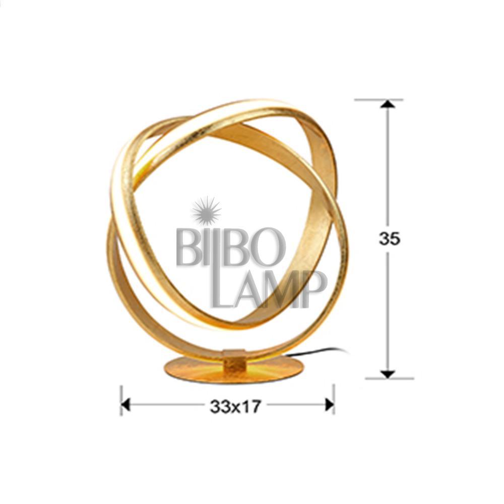 Sobremesa Lazas en Pan de Oro de Bilbolamp