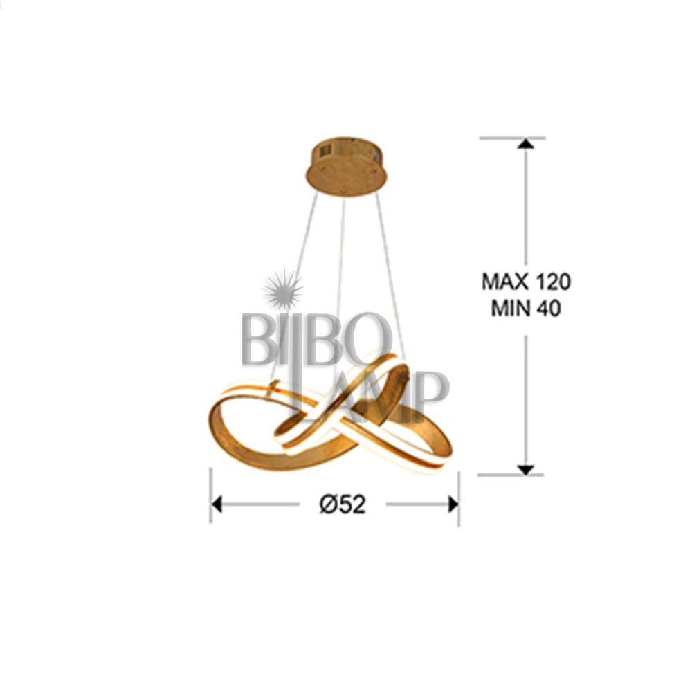 Lámpara Colgante Lazas en Pan de Oro de Bilbolamp