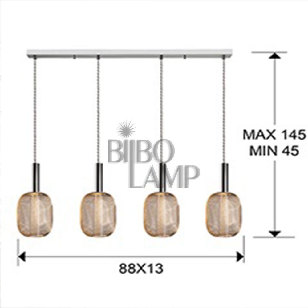 Lámpara Colgante Lineal Micrón de 4/luces de Bilbolamp