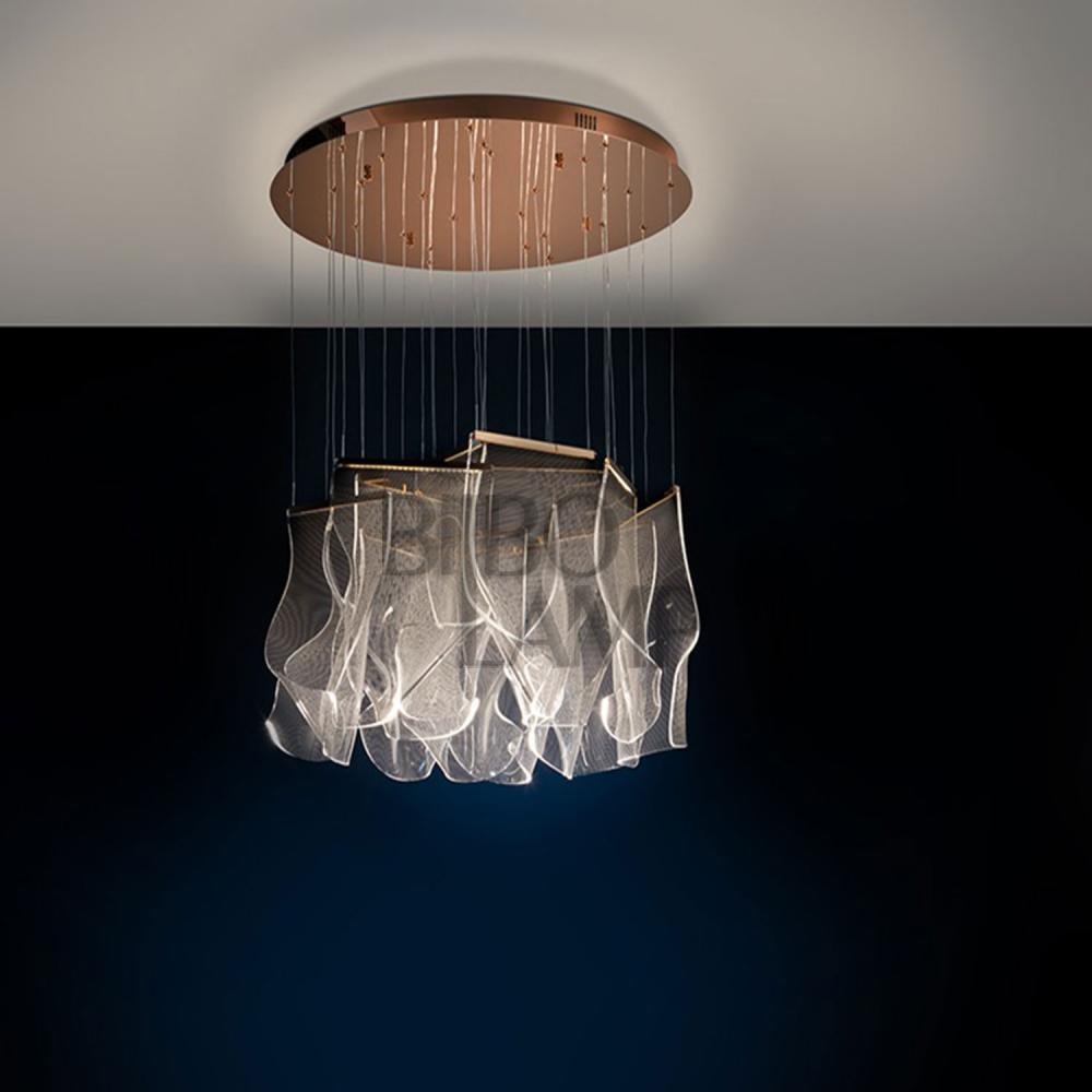 Nueva Lámpara Velos de 14/luces en Oro Rosa de Bilbolamp