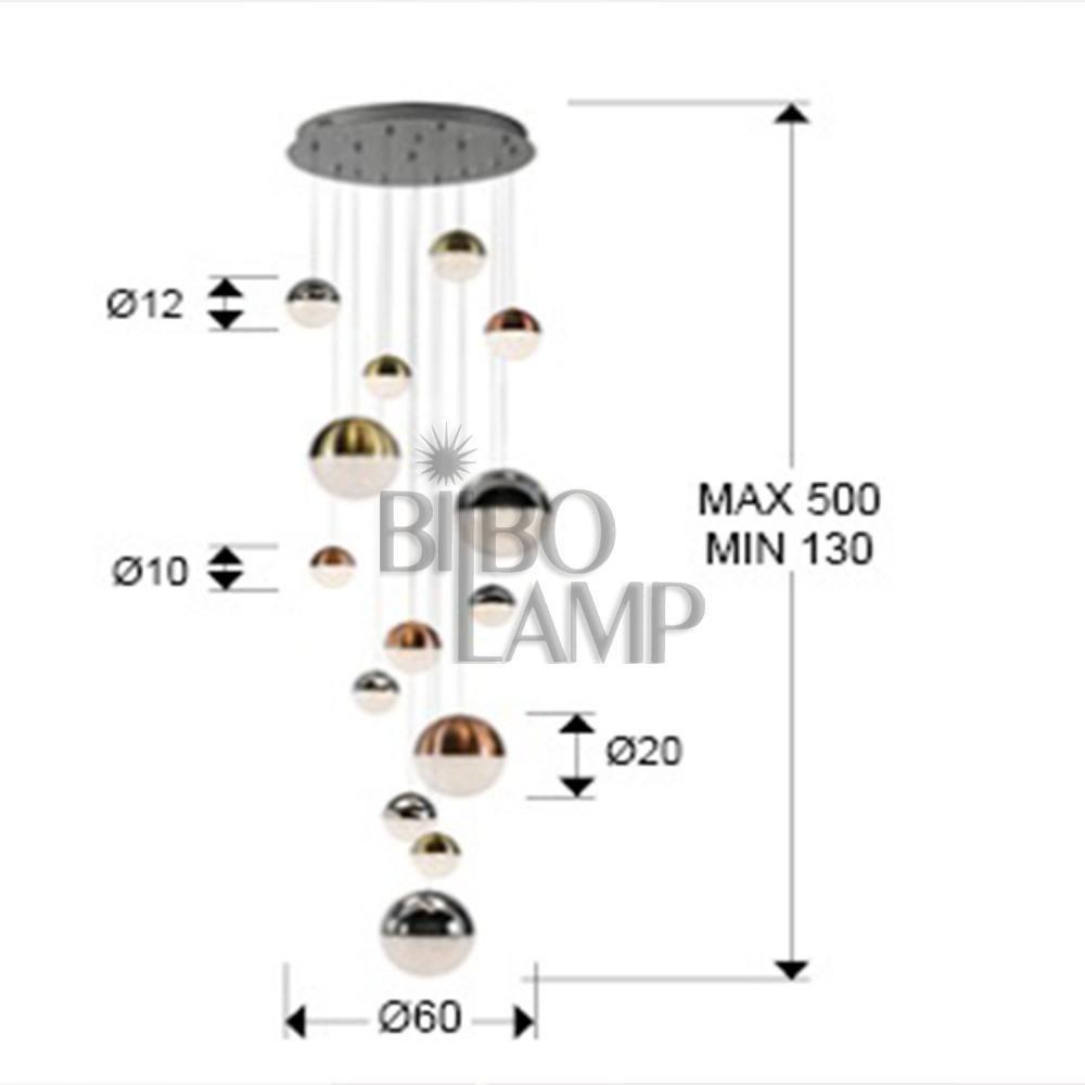 Lámpara Shere 14/Luces de Bilbolamp