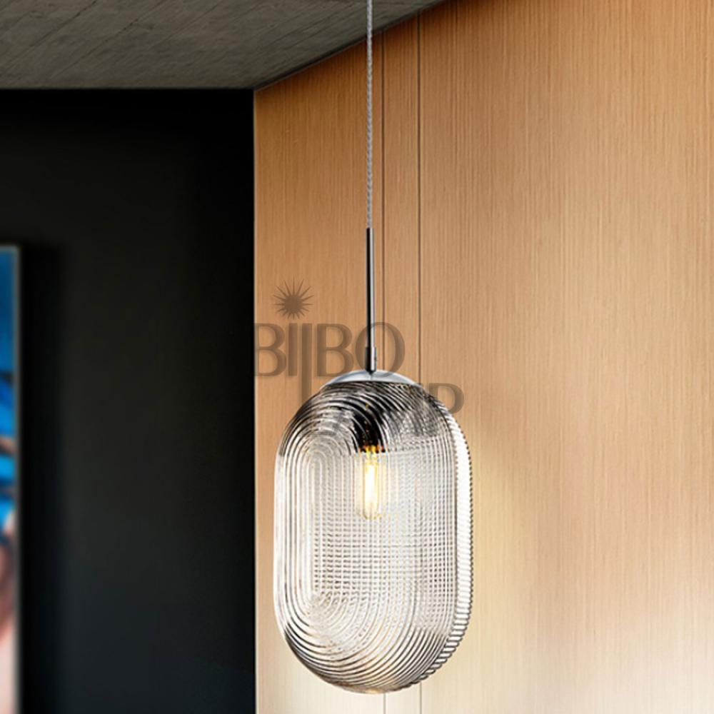Colgante de 1 luz Tensai cristal Ø22 cm. de Bilbolamp
