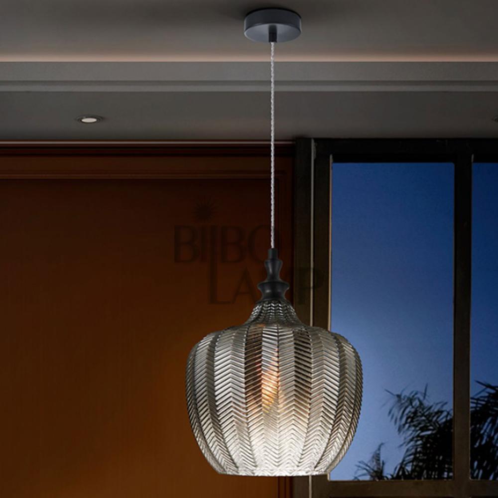 Colgante Spiga en cristal Smoke de Bilbolamp