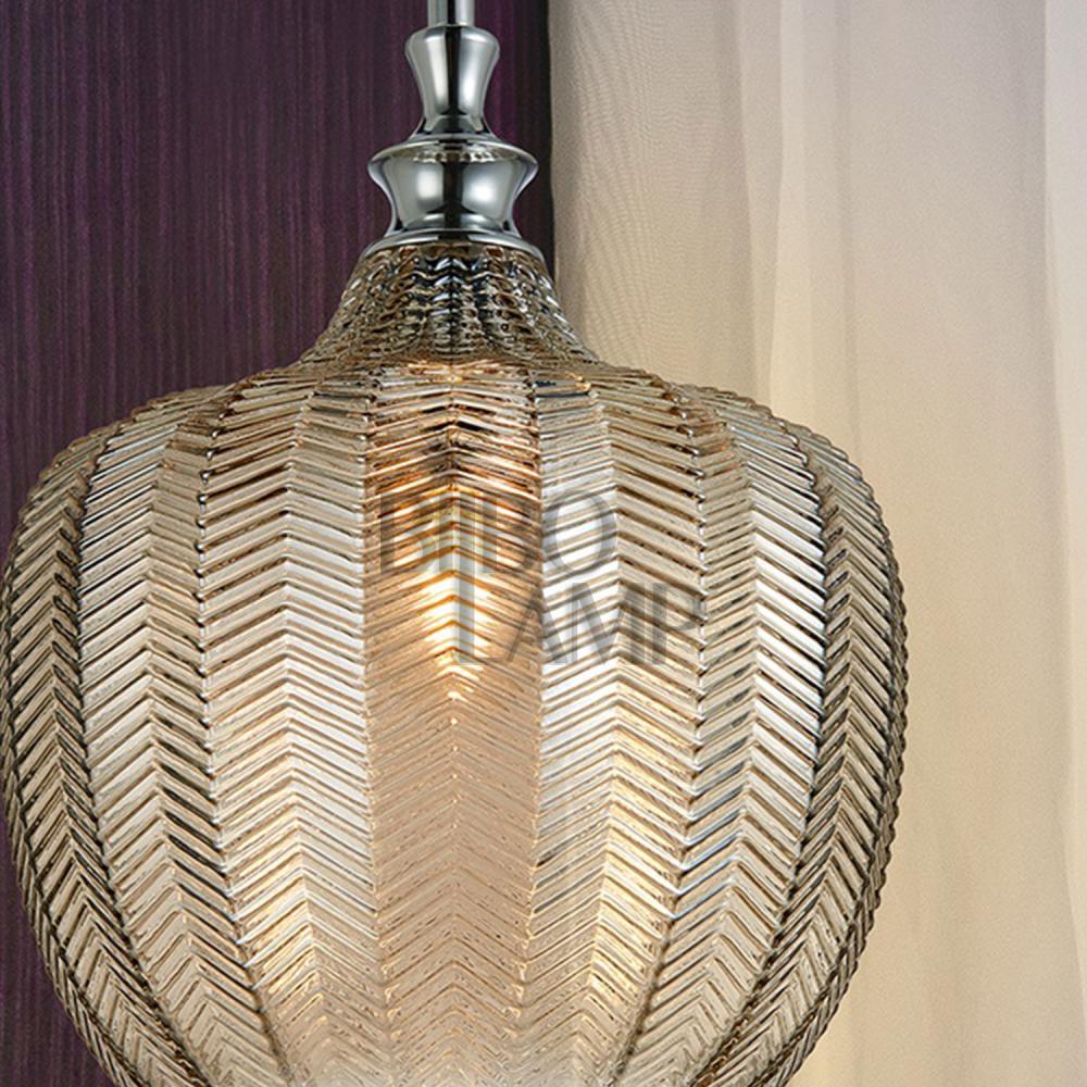 Colgante Spiga en cristal Coñac de Bilbolamp