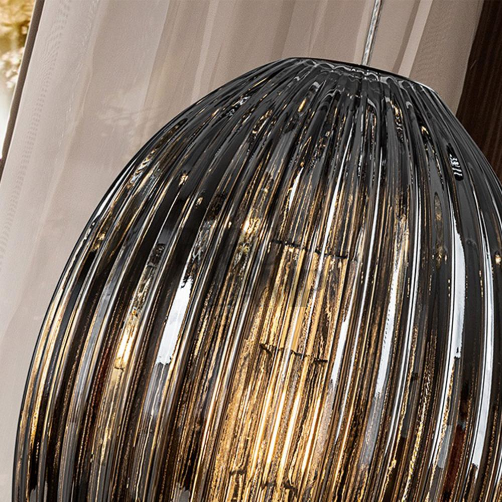 Colgante de Cristal Oliva Ø30cm  en Smoke de Bilbolamp