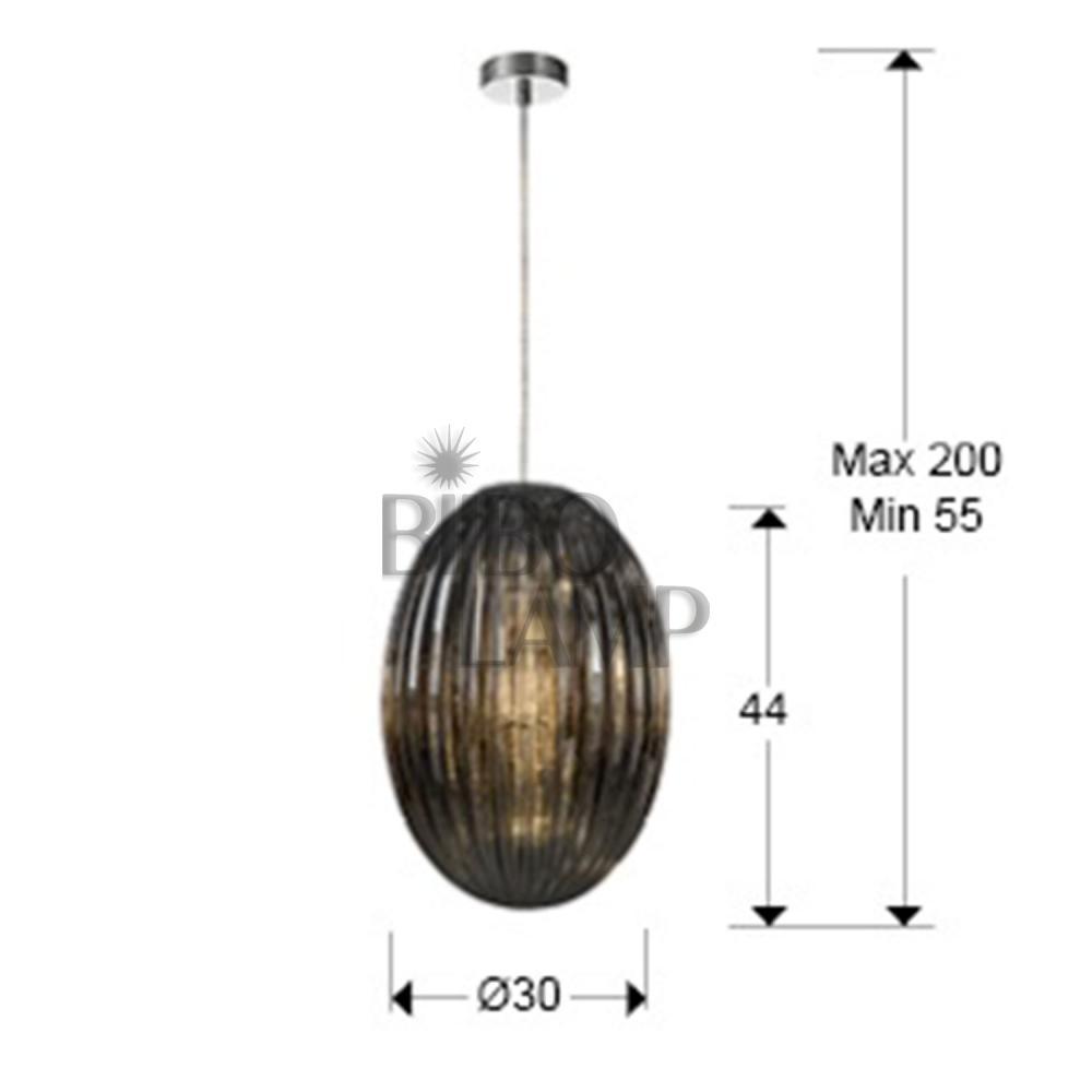 Colgante de Cristal Oliva Ø30cm  en Coñac de Bilbolamp