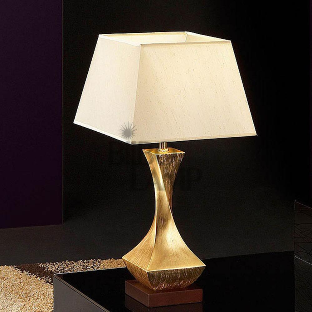 Lámpara de Sobremesa Deco en Pan de Oro de Bilbolamp