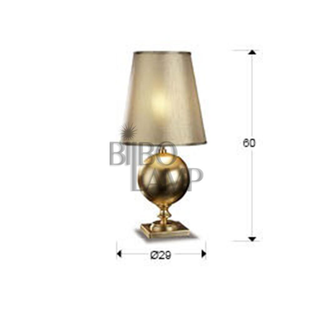 Lámpara de Sobremesa Terra en Pan de Oro de Bilbolamp