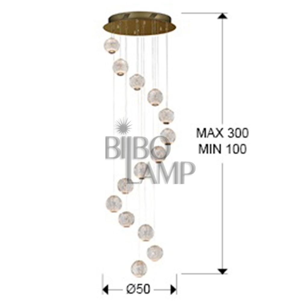 Lámpara Colgante Austral de 14 Luces en Led de Bilbolamp