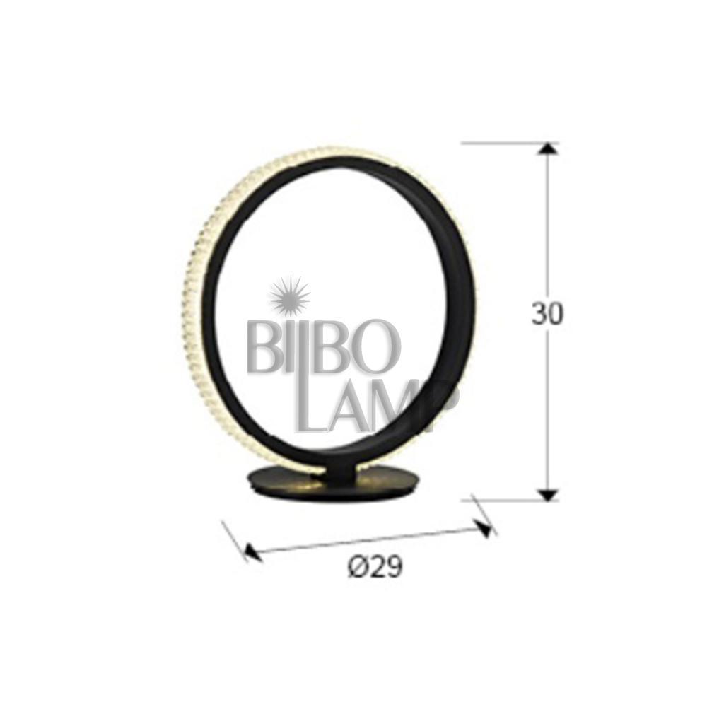 Lámpara de Sobremesa Ring en Negro de Led de Bilbolamp