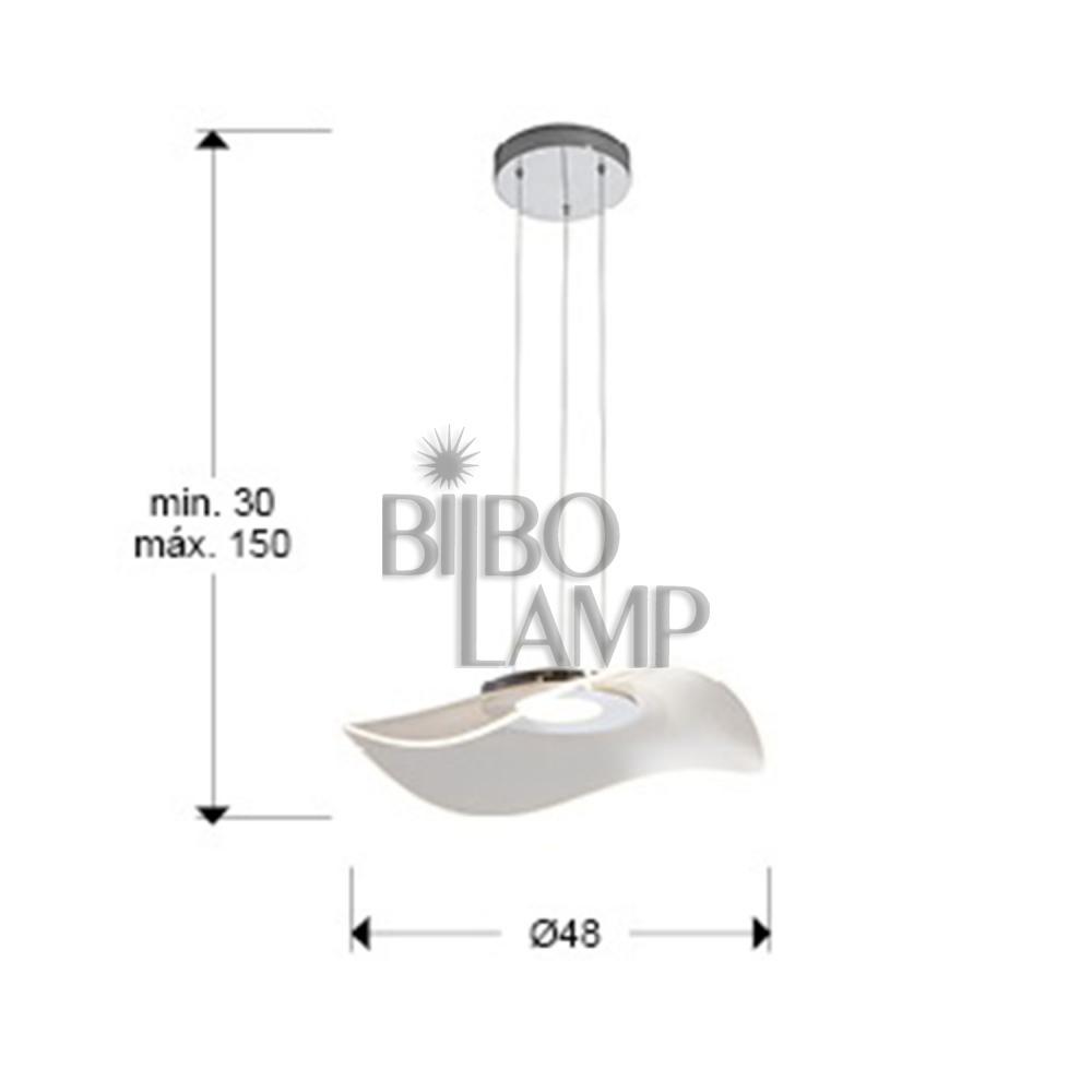Lámpara Colgante de Led Vento de Bilbolamp