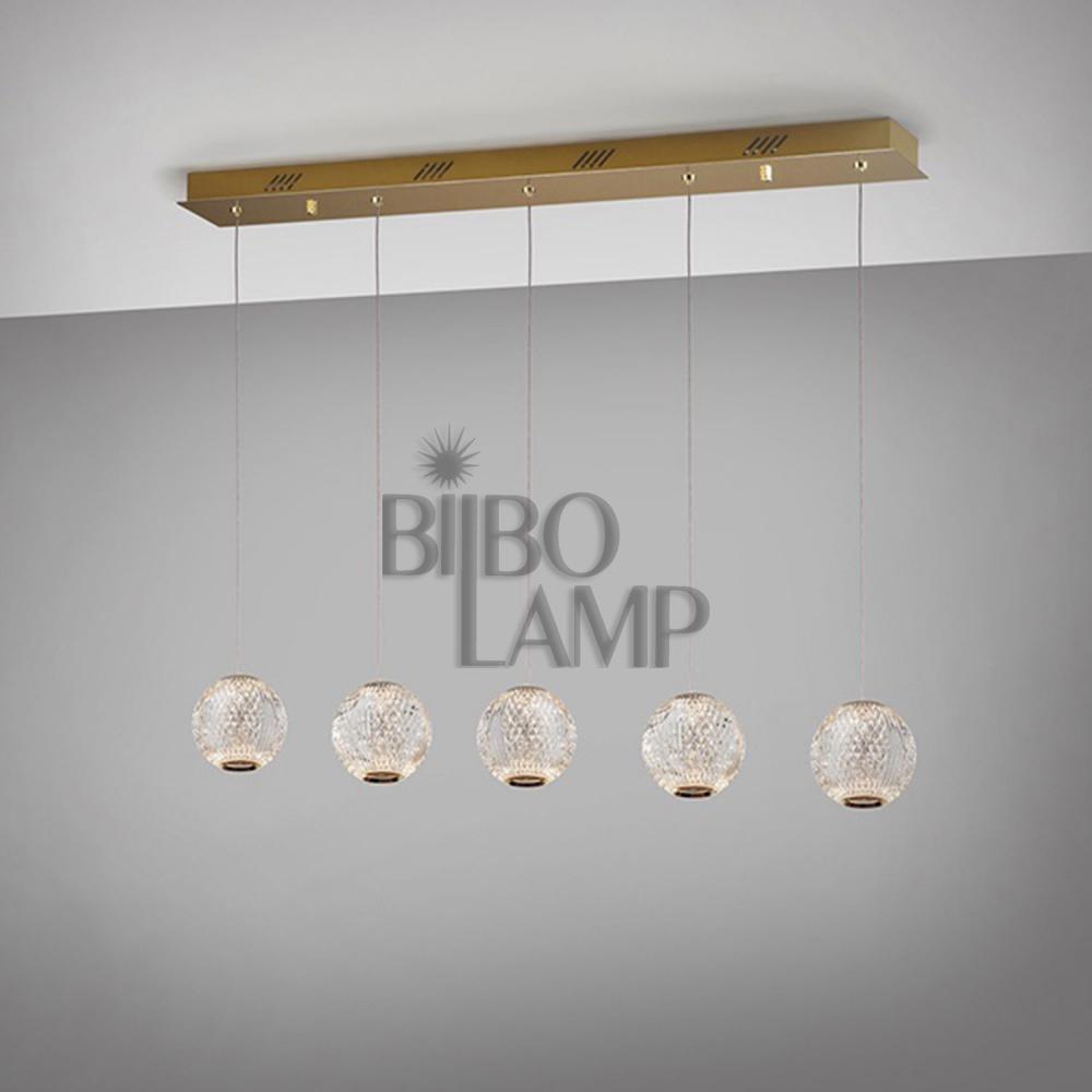 Lámpara Colgante Lineal Austral de 5 Luces en Led de Bilbolamp