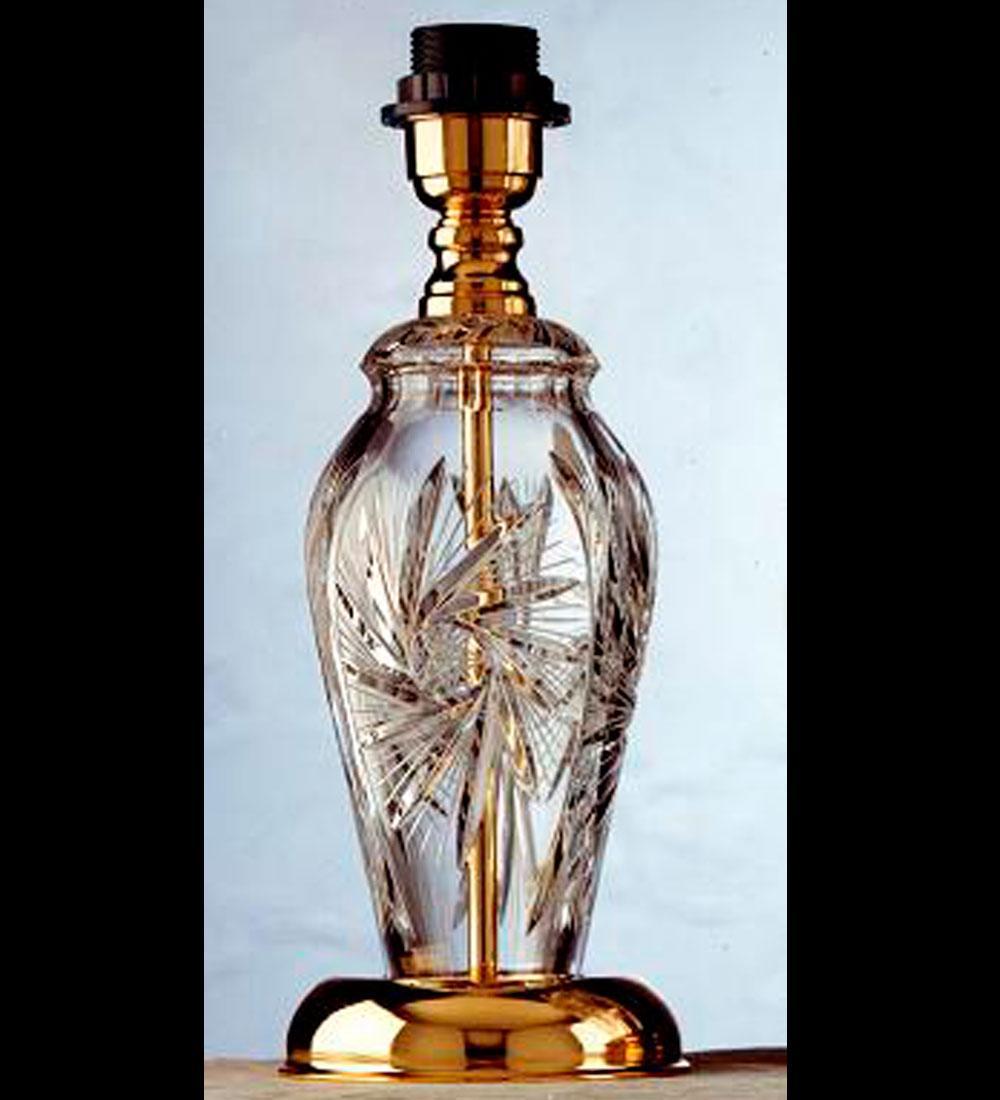Lámpara de Sobremesa Clásica de Cristal de Bohemia de Bilbolamp