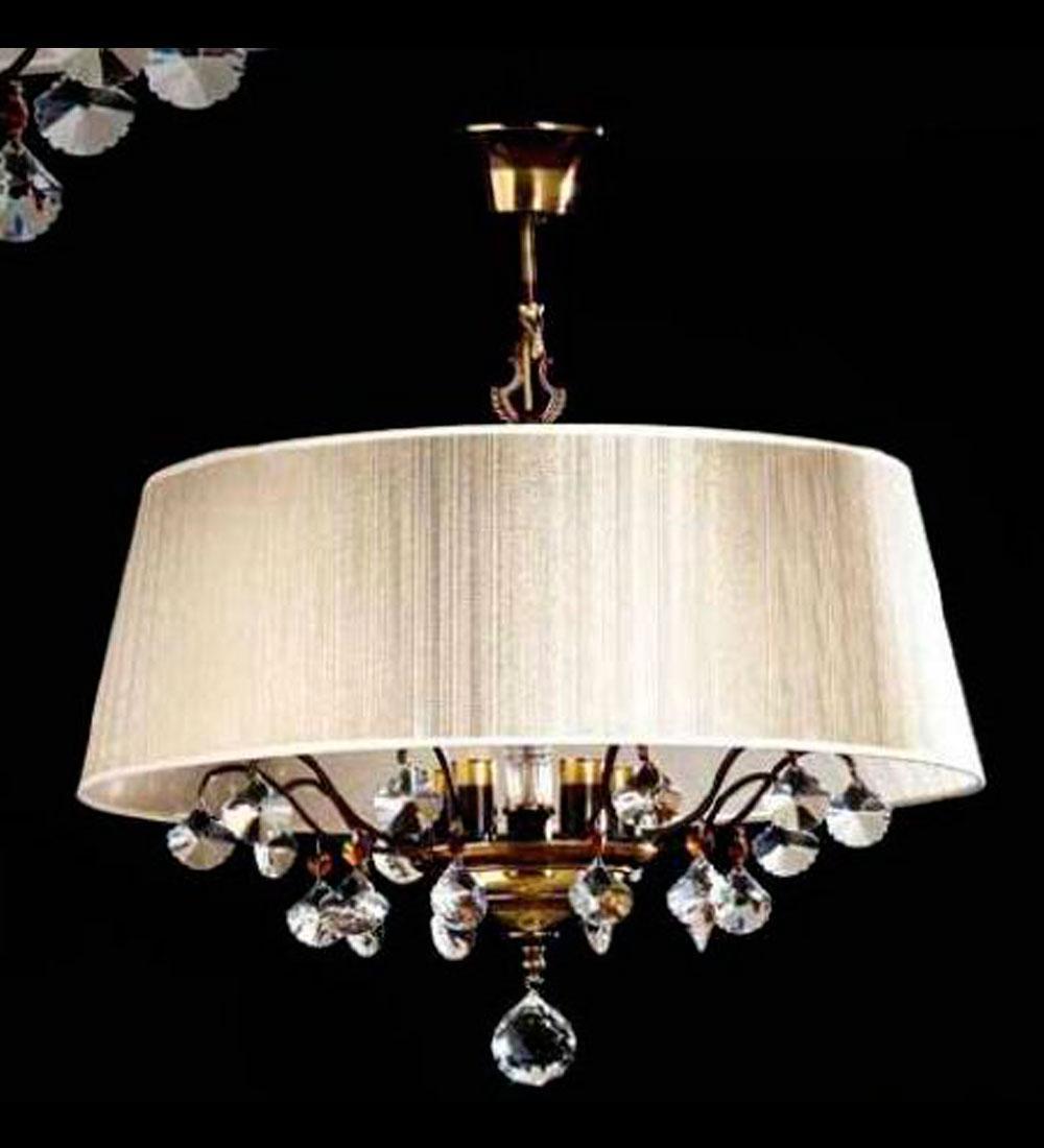 Lámpara Clásica C/ Pantalla  6/Luces   de Bilbolamp
